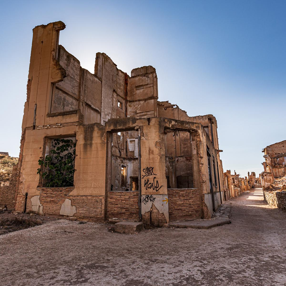 The historic town of Belchite, and the battle that destroyed it